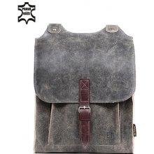 Glara retro batoh z pravé kůže 275858 šedá 24b8b2942f