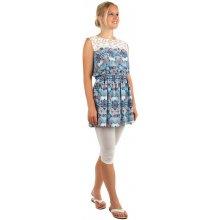 Mini šaty s ornamenty a krajkovými rameny 159676 modrá 87e9cde6a3