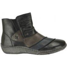 Nadměrné kotníkové zimní boty Remonte s membránou šedo-černé e7202c940c
