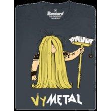 Bastard Metalista pánské šedé tričko
