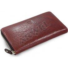Arwel Dámská kožená zipová peněženka 511 3559 v kombinaci červené a černé barvy