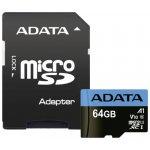 ADATA microSDXC 64GB UHS-I U1 AUSDX64GUICL10A1-RA1