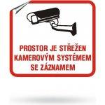 Bezpečnostní samolepka kamerový systém KS-10x9