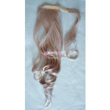 HOTstyle Clip in culík vlnitý 100% japonský kanekalon - stříbřitá blond