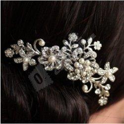 Recenze Svatební hřebínek do vlasů s perličkami a kamínky - více ... e04893fc4d