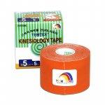Tejpovací páska TEMTEX Kinesio Tape Classic 5 cm × 5 m oranžová