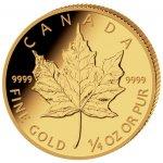 Maple Leaf Royal Canadian Mint Zlatá mince 1 4 Oz