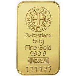 Argor Heraeus SA Zlatý slitek 50 g