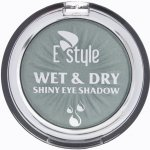 E style Wet & Dry Shiny Eye Shadow Mono New oční stíny 2 Mossy Green 6 g