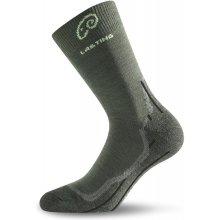 53078f0da45 Lasting Merino ponožky WHI tm. zelená