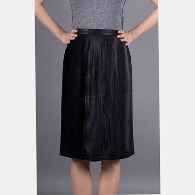 Armani Jeans plisovaná sukně černá