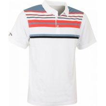 Callaway polo Roadmap Striped bílo šedo oranžové