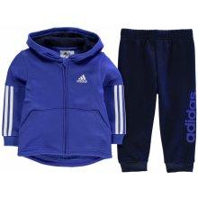 Adidas Klučíčí tepláková soupravička modrá