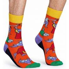 193600ed5e0 Happy Socks Oranžové ponožky s barevnými příšerami