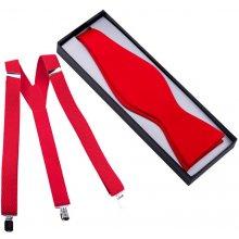 Assante Set kšandy a motýlek vázací červený 520 8b43065adb