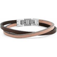 Lucleon náramek Tan & Steel Roy Single Wrap MP_bracelet222