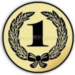 Poháry.com Emblém tištěný 1. místo 25 mm