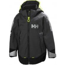 Helly Hansen K Icon dětská nepromokavá bunda charcoal c00209dc7b