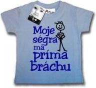3fc1c3363a6 Moje ségra má príma bráchu tričko s krátkým rukávem světle modrá  alternativy - Heureka.cz