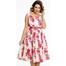 Lindy Bop dámské šaty delta Floral Pink 78722 barevná 510a40c6c90