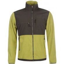 Gelert Hybrid Fleece Jacket Mens Olive/Brown