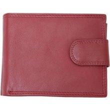 Pánská tmavě kvalitní kožená peněženka Kabana červená