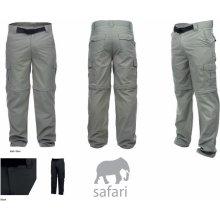HI-TEC Lobo pánské outdoorové kalhoty černé kapsáče, odepínací nohavice