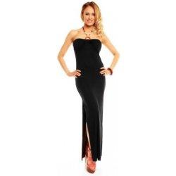 Dlouhé černé šaty s rozparkem 1e1acdf018