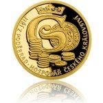Česká mincovna Zlatá mince Doba Jiřího z Poděbrad Hospodář Českého království proof 3,11 g