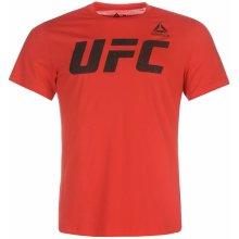 Reebok UFC T Shirt Mens Red/Black