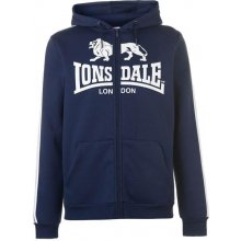 Lonsdale 2S Zip Hoody Mens Navy White c7ae64dad4b