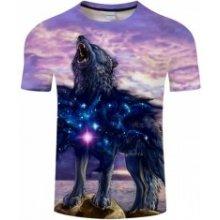 8acfed50c95 UNISEX 3D potisk tričko triko krátký rukáv Souhvězdí vlka