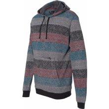 37c745d7131 Pánský svetr s tištěnými pruhy a klokánkou Burnside Červená černá