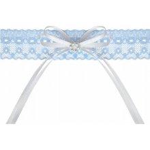 Podvazek svatební krajkový modrý