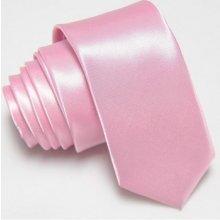 Úzká Slim kravata světle růžová