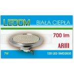 Ledom LED žárovka 7W 120xSMD2835 AR111 12V 700lm Teplá bílá
