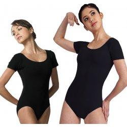 42e390213e78 Dámský baletní trikot - krátký rukáv černá dámské body - Nejlepší ...