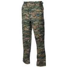 US Bdu maskáčové kalhoty Rip Stop Digital Woodland
