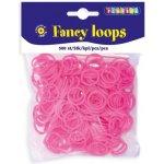 Playbox Gumičky FANCY LOOPS - samostatné gumičky 500ks růžové
