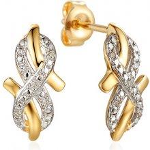 2972aa51f iZlato Design zlaté náušnice s diamanty naolin IZBR428N
