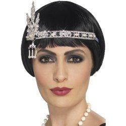 7c1147bec Karnevalový kostým Luxusní čelenka 20. léta šperk