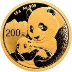 Panda Zlatá mince 15 g 2019