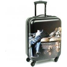 David Jones 2052 malý skořepinový kufr 40x20x55 cm, Černá