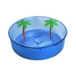 Terárium Shopakva plastové terárium pro želvy modrý kruh 24,5 cm