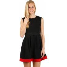 Áčkové šaty s aplikací v pase 128754 černá be29c66550