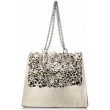 Made In Italy elegantní kožená kabelka Vittoria Gotti d0508e6c2e9