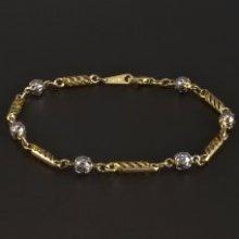 Náramek Goldpoint zlatý článkový s kuličkami 1.25.NR004016.19