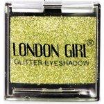 LONDON GIRL Flitrové oční stíny Mono Světle zlaté GLITTER Eyeshadow 11 4,5 g