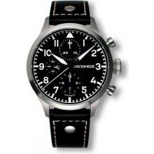Archimede Pilot Chronograph černý řemen