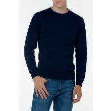 Gant Pánský svetr O2. TWIN RIB CASH BLEND CREW modrá